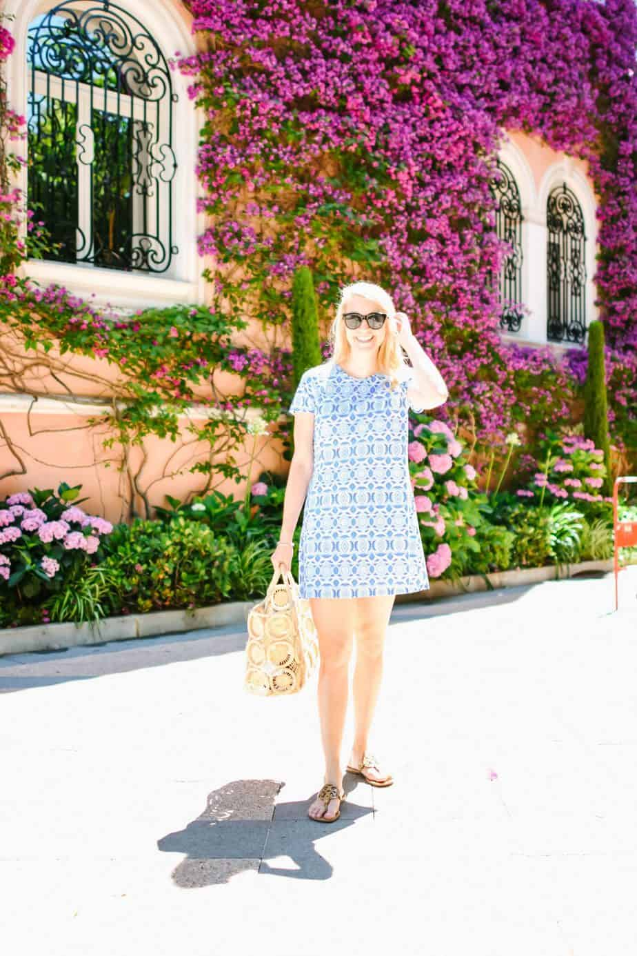 Saint Jean Cap Ferrat dress bouganvilla
