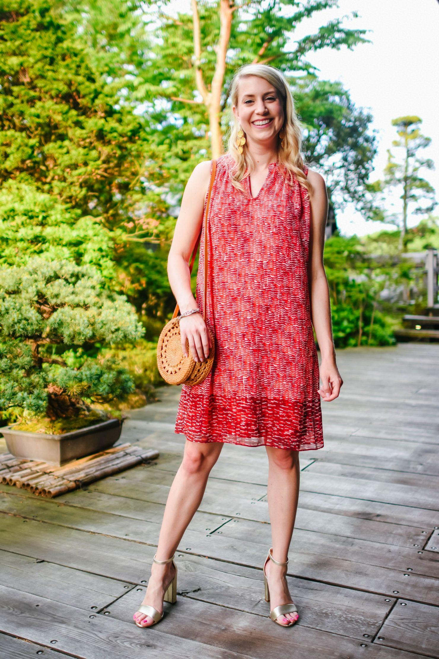 Japan red dress