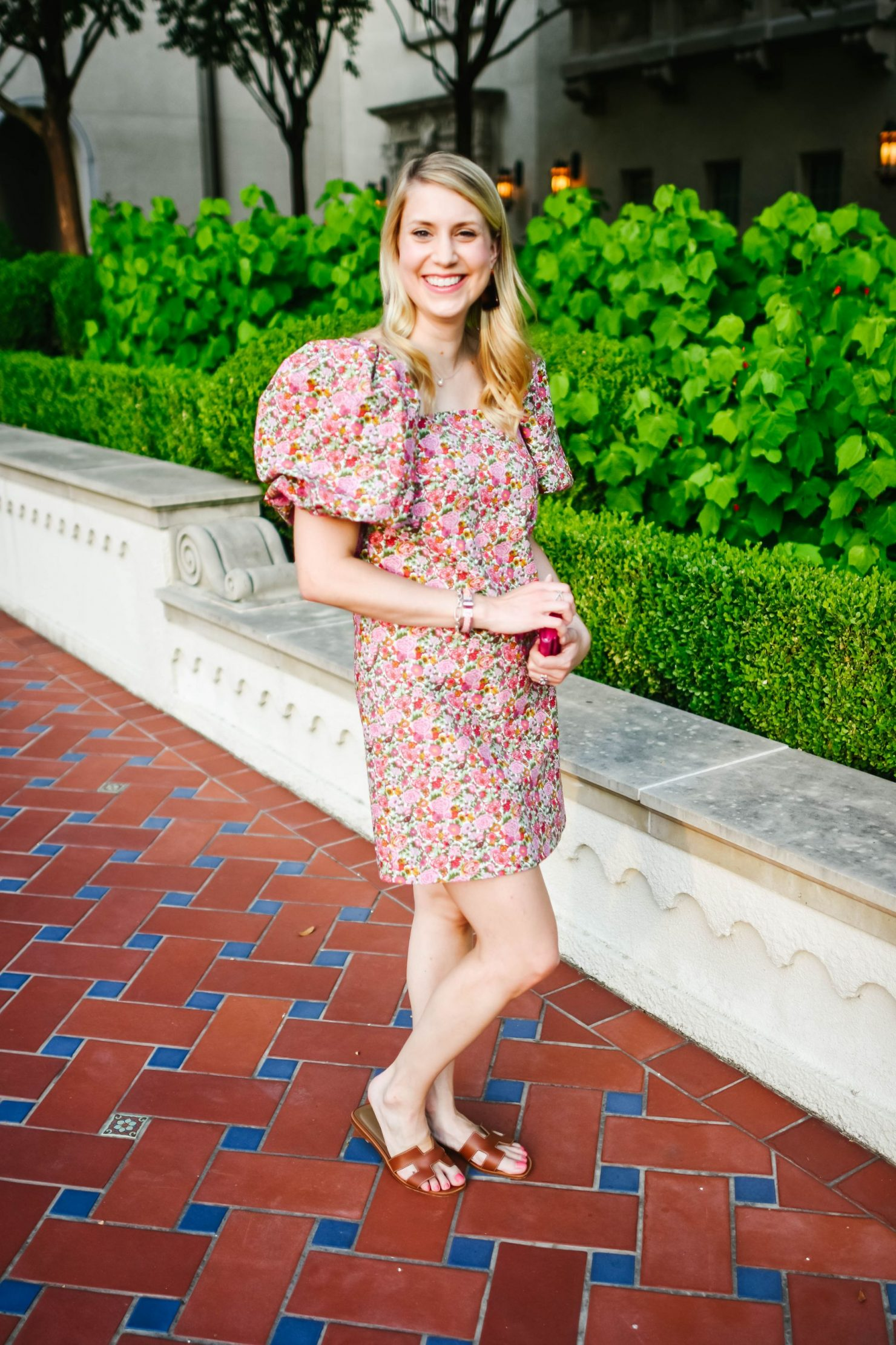 July Florals Puff Sleeve Dress