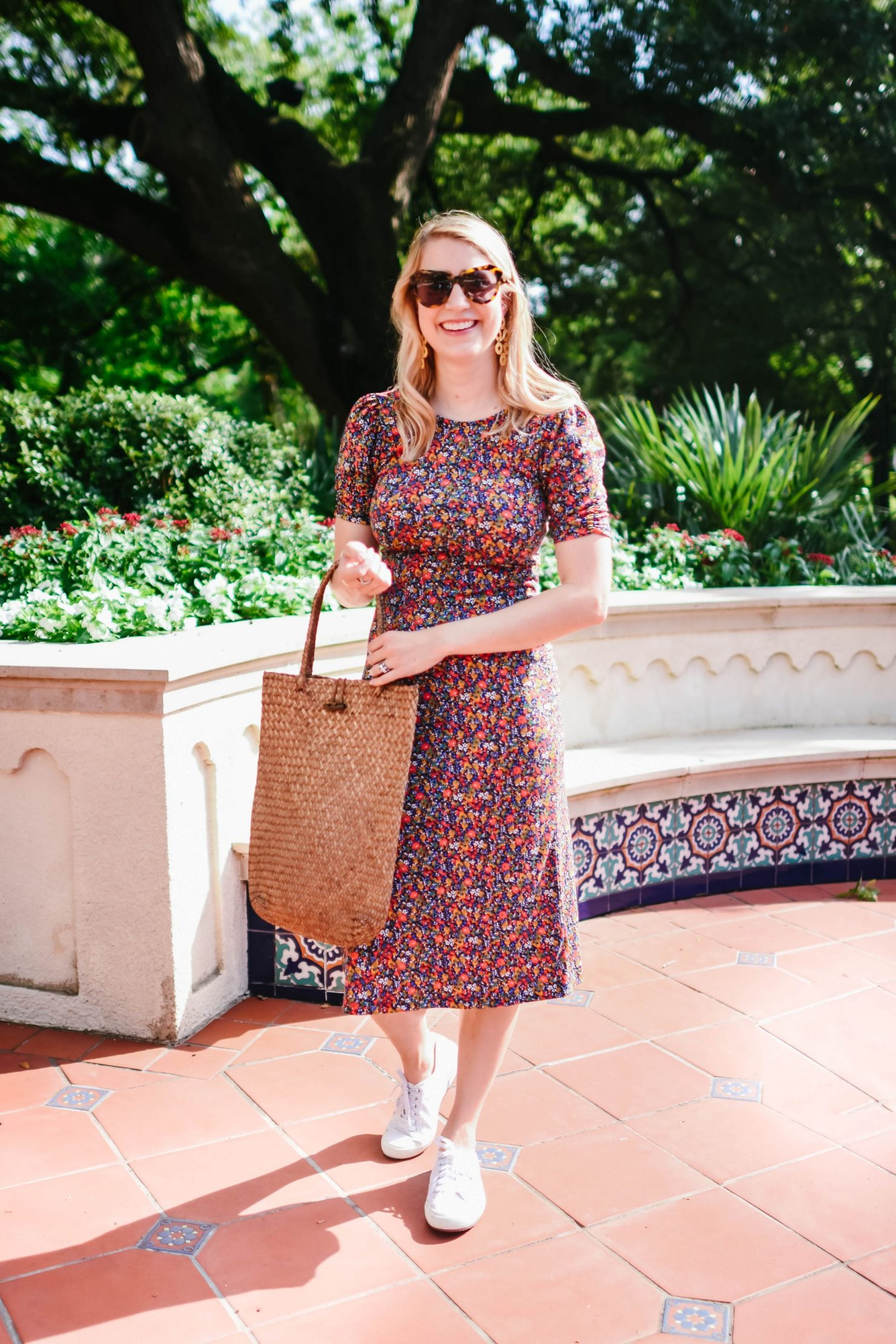 July Florals - Ruched Dress